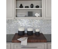 Beautify Your Kitchen Backsplash with Reflective Tile. (Cultivate.com)