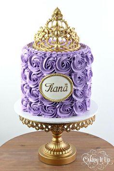 Princess rosette tiara cake cakes