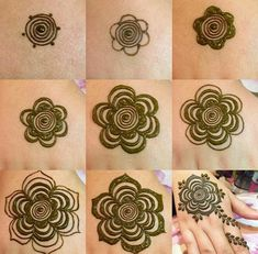 Step by step henna design Image by ❤Adidas queen❤ Pinterest Adidas queen
