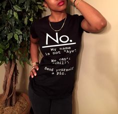 """NO."" Black Women's Slim Fit Tee *NEW RELEASE!!!*"