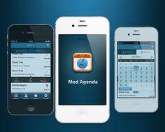 Med Agenda by Mikhail Nagliy, via Behance
