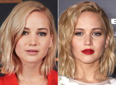 Jennifer Lawrence | See stars in both nude and red lipstick, and prepare to be mesmerized at just how much a shift in shade can change their whole look.