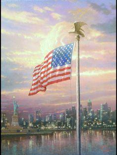 """Light of Freedom"" by Thomas Kinkade"