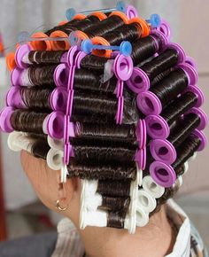 Getting A Perm, Wet Set, Perm Rods, Roller Set, Curlers, Vintage Glamour, Headgear, Wig Hairstyles, Perms