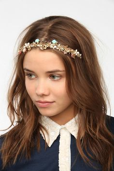 Flower Garden Headband I AM IN GREAT NEED OF GOING TO URBAN OUTFITTERS TO BUY THIS -JULIA