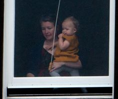 Prince George watched his parents and the ceremony from inside Wellington's Government House. 7 April 2014