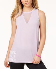 Material Girl Active Juniors' Mesh-Inset Tank Top, Created for Macy's | macys.com