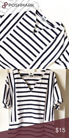 Old navy striped shirt Great shirt can be worn with a Nautical themed outfit or with some jean shorts and sandals Old Navy Tops