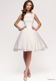 Simple Dresses for Civil Wedding Civil Wedding Dresses, Boho Wedding Dress, Dream Wedding Dresses, Simple Dresses, Casual Dresses, Short Dresses, Confirmation Dresses, Cute White Dress, Bridesmaid Dresses