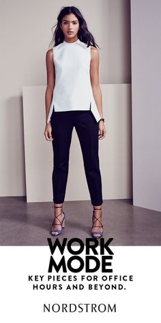 How To Wear Black Pants Work Outfits Dresses Ideas For 2019 Neue Outfits, Office Outfits, Office Attire, Office Uniform, Office Wear Women Work Outfits, Summer Work Outfits Office, Chic Office Outfit, Summer Outfits, Summer Office