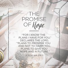 """Day 10- The Promise of Hope // """"For I know the plans I have for you,"""" declares the Lord, """"plans to prosper you and not to harm you, plans to give you hope and a future."""" {Jeremiah 29:11} // 25 Days of Christmas Promises #incourageChristmas"""