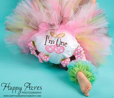 First Birthday Bloomers Cherries I'm One Pink Lime by whimsytots, $22.50
