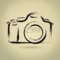 Ilustración DSLR cámara con Brushwork Foto de archivo - 16905845
