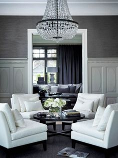 If you are looking for 53 Excellent Formal Living Room Decor Ideas, You come to the right place. Here are the 53 Excellent Formal Living Room Decor Ideas. Living Room White, White Rooms, Formal Living Rooms, Home Living Room, Living Room Designs, Living Room Furniture, Living Room Decor, Living Spaces, Small Living