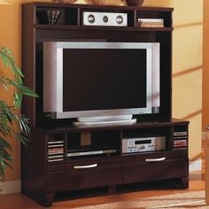 Transitional Entertainment Wall Unit