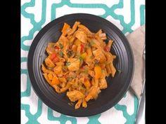 YouTube - One Pot Chicken Fajita Pasta