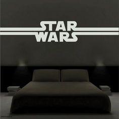 STAR WARS VIII Wall Decals BB-8 R2D2 Spaceship Room Decor Sticker Galaxy Force 8