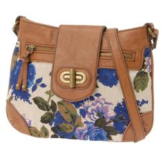 floral fabric cross body bag.