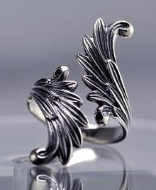 Celtic Moon Goddess Angel wings Fairy Ring Genuine Sterling silver Jewelry in Jewelry & Watches, Fashion Jewelry, Rings Silver Necklaces, Sterling Silver Jewelry, Silver Earrings, Gold Jewelry, Jewelry Rings, Jewelry Accessories, Jewelry Design, Unique Jewelry, Jewellery Box