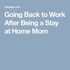 mother returning to work resumes