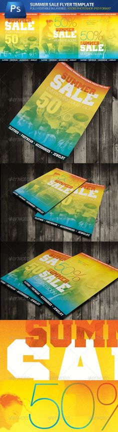 Summer Sale Store & Shop Commerce Advert Flyers — Photoshop PSD #flyer #holiday • Available here → https://graphicriver.net/item/summer-sale-store-shop-commerce-advert-flyers/1751333?ref=pxcr