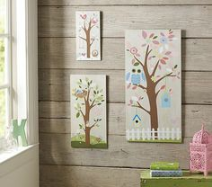 I love the Hayley Tree Plaques on potterybarnkids.com. Soooo cute. #owls