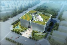 Southwest International Ethnic Culture and Art Center Winning Proposal,Courtesy of Tongji Architectural Design and Research Institute