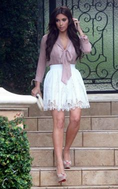 Have always loved Kims style. Always dresses perfect for her curves.