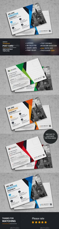 Post Card Template PSD. Download here: http://graphicriver.net/item/post-card/16893653?ref=ksioks