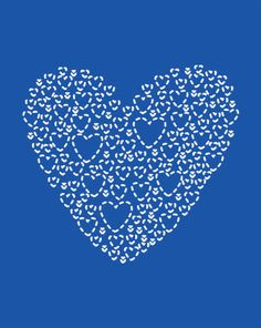 Love hearts in Monaco #blue