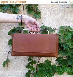 Brown Leather Handbag  / Women Purse / Crossbody Bag /