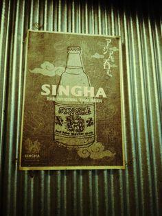 Singha Memorabilia, Singha Beer, Boon Rawd Brewery, Thailand. http://islandinfokohsamui.com/