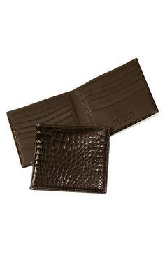 Trafalgar Genuine Alligator Wallet available at Alligator Wallet, What Makes A Man, Leather Wallet, Nordstrom, Brown, Wallets, Handsome, Husband, Products