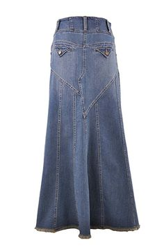 30ba2210cfe314 Style J Fantastic Flared Long Jean Skirt at Amazon Women's Clothing store:
