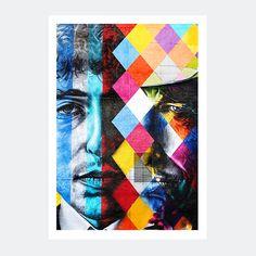Plakat graffiti – Bob Dylan