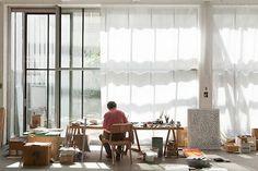 Studio benoît van innis frederik vercruysse photographer lavoro d' Dream Studio, Home Studio, Studio Spaces, Interior Architecture, Interior And Exterior, Atelier Loft, Creative Studio, Home Office, Ikea Office