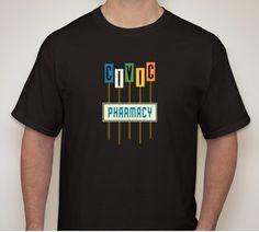 T-shirts based on retro-awesome signage in Ottawa.