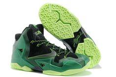 Nike Lebron 11 PS Elite Dark Green Volt Black 616175 com have all Cheap For  Half Off 8609a91e08f3