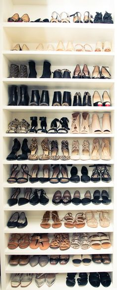 Walk in Closet Ideas - Shoe Storage