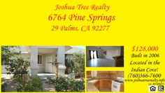 Interested in this property? If you call Joshua Tree Realty today you can arrange to go see this or more properties like it! (760)366-7600