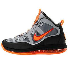new product c2e92 d33c1 NIKE AIR MAX UPTEMPO FUSE 360 MENS 555103-006 Grey Orange Basketball Size 9