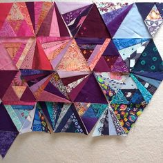 """""""I'm working on a tester block for some secret sewing and using #tessellationquilt blocks as leaders/enders, but honestly I've spent more time making the…"""""""