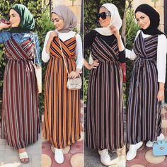 Unique Fashion, Modern Hijab Fashion, Islamic Fashion, Muslim Fashion, Modest Fashion, Fashion Dresses, Fashion Fashion, Hijab Style Dress, Casual Hijab Outfit