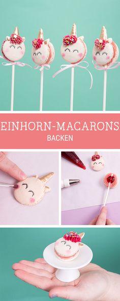 Es wird magisch: Rezept für süße Einhorn Macarons, Geschenkidee / sweet recipe for magic lovers: unicorn macarons via DaWanda.com