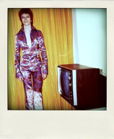 Polaroid of David Bowie, early 1970s...even he had daggy photos taken