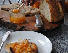 In a village called Segur le Chateau.: Simple and Scrumptious Clementine Marmalade Recipe Clementine Recipes, Marmalade Recipe, Chutneys, Food For Thought, Starters, Preserves, Baked Potato, Jelly, Tasty