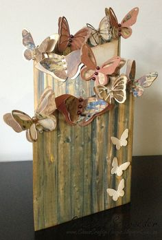Wow, isn't this a gorgeous fence card Chantel designed using Mary's beautiful butterflies from various SVGCuts kits and collections!  The colors are amazing!    More info on how she did it here:  http://www.chanscraftythings.blogspot.com.au/2013/11/butterflies-galore.html