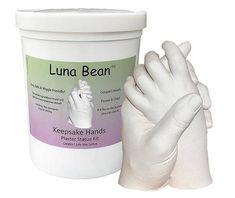 DIY Luna Bean Keepsake Hands 3D Plaster Statue Hand Casting