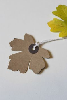 Leaf shaped gift tags for presents and parcels