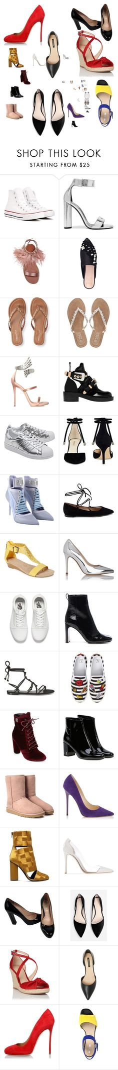 """""""Set of my favorite looking shoes 4-12-17 # 1"""" by myswag1617 ❤ liked on Polyvore featuring Converse, Tom Ford, Miu Miu, KG Kurt Geiger, Aéropostale, M&Co, Giuseppe Zanotti, Balenciaga, adidas Originals and Nine West"""